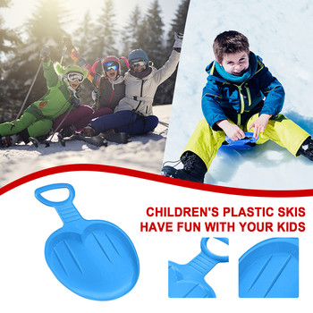 Outdoor Sports Snowboard Skiing Boards Ski Kids Thick Plastic Sand Grass Sled Snow Luge Outdoor Sport Children Winter Gift 2021 image