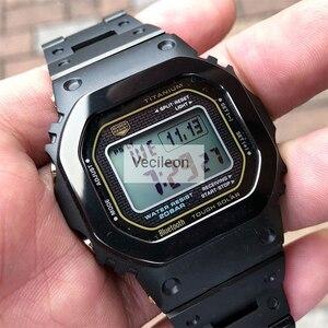 Image 2 - GMW B5000 Zwart Camo Sliver Titanium Legering Horlogebanden En Bezel Metalen Band Stalen Armband Cover Met Gereedschap