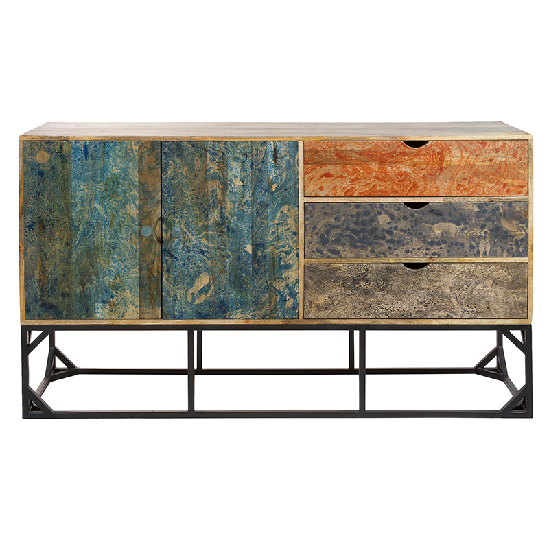 Sideboard (160 X 45 X 90 Cm) Mango Wood - Vintage Collection