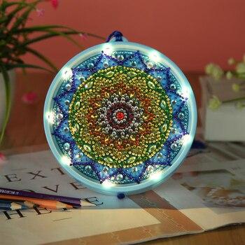 New LED Decoration Christmas Light DIY Drill Diamond Painting Light Night Lamp Pendant Bedroom Decorative