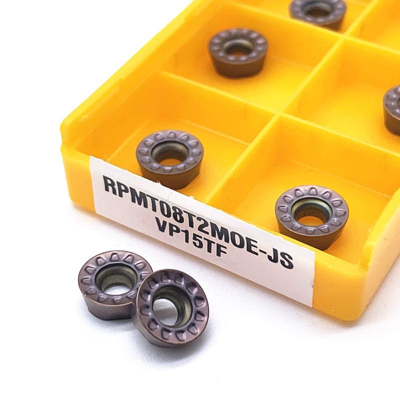 10PCS  RPMT08T2 MO VP15TF Carbide Insert RPMT 08T2 Face Mill Lathe Milling CNC Tools Milling Cutter Turning Tool
