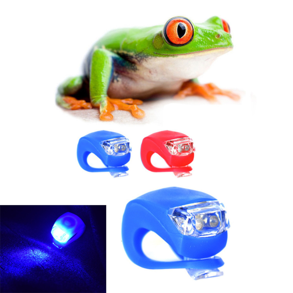 Bicycle Front Light Silicone LED Head Front Rear Wheel Bike Light Waterproof Cycling With Battery Bike Lamp Bicycle Accessories