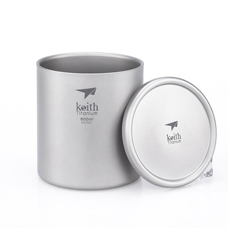 Кружка с двойной стенкой кофейная кружка теплоизоляция офисные кружки двойной кофе титановая чашка питьевое молоко туристические кемпинг...