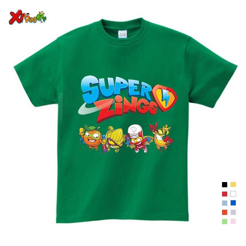 Baby Boys Girl Tshirt Los Super Zings Series Piano Superzings Kids T-Shirts Toddler Baby Children Fashion Printed White T Shirts