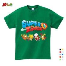 Bebê meninos menina tshirt los super zings série piano superzings crianças t-shirts da criança do bebê crianças moda impresso branco t camisas