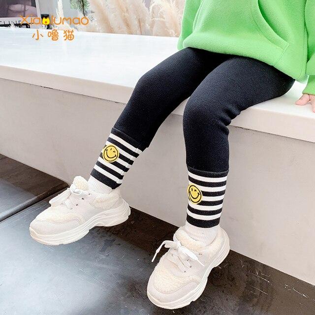 Фото детские леггинсы xiaolumao для девочек модные бархатные штаны цена