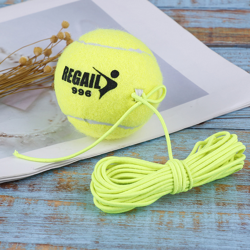 Elastic Rubber Bouncing Ball Tennis Trainer Band Ball Beginner Training Tennis Single Practice Training Belt Line Cord Tool