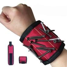 Jewii магнитный браслет, сумка для инструментов, 3 магнита, электрика, инструмент для запястья, ремень, саморезы, сверла, браслет для ремонта инструмента