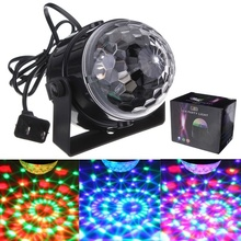 RGB LED Party Light Disco Club DJ Crystal Magic Ball Automatic Effect Stage Light Lighting Disco for KTV Bar Stage Club Party eu us plug ktv club bar mini rotating led rgb crystal magic ball effect light disco dj stage business lighting ac220v