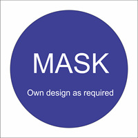 Bulk Production Sale Luminous Mask LED Electroluminescent Panel Voice El Luminous Mask Customizable