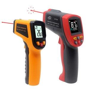 Image 1 - Инфракрасный термометр лазерный пирометр 400C 750C 950C Бесконтактный ЖК ИК термометр пистолет точечный измеритель температуры подсветка