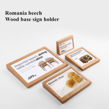 sviao slanted wooden sign holder for tag label photo picture