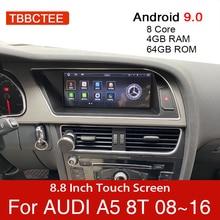 Android 9.0 4 + 64GB samochodowy odtwarzacz multimedialny dla Audi A5 B8 8T 2008 ~ 2016 MMI 2G 3G nawigacja GPS jednostka główna stereo monitor dotykowy dvd