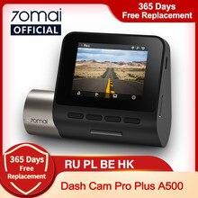 Aktualizacja wersji 70mai kamera na deskę rozdzielczą Pro Plus 70mai Plus wideorejestrator samochodowy wbudowany GPS 1944P współrzędne prędkości ADAS 24 godziny Parking A500
