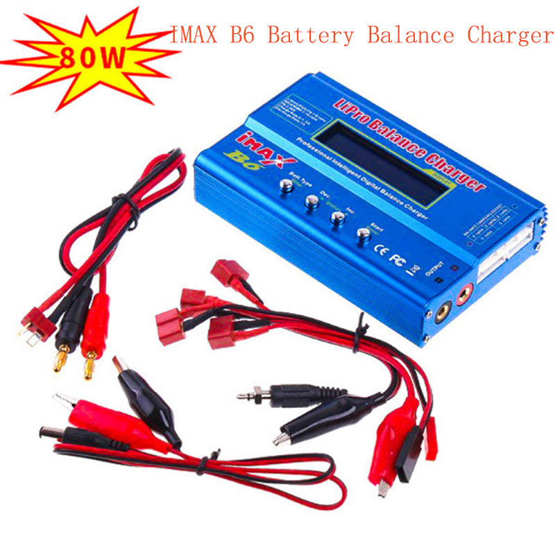 Cabzty iMax B6 Balance Charger 80W 6A Model Li-Po Li-Fe Ni-MH Li-lon Ni-Cd PB Battery Charger T plug Tamiya XT60 optional