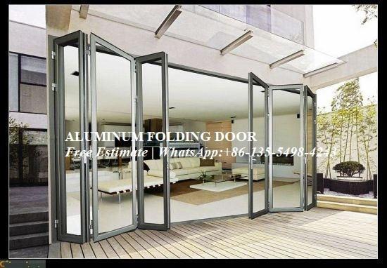 Aluminium Heavy Folding Door Sound-Proof For Villa House Hotel Building Project