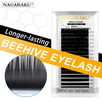 NAGARAKU Laser Beehive Eyelash Extension Longer Lasting Individual Eyelash Makeup Maquiagem Super High Quality Synthetic Mink 1