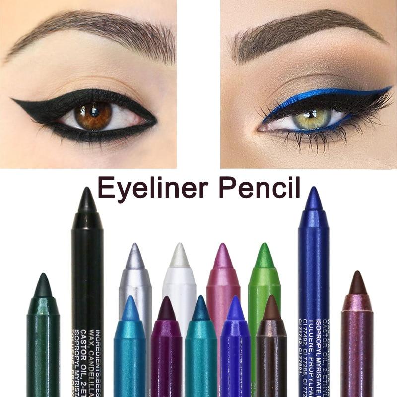 1PC Fashion Women Long-lasting Eye Liner Pencil Pigment White Color Waterproof Eyeliner Pen Eye Cosmetics Makeup Tools Eyeliner