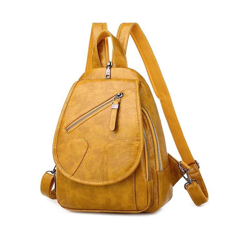 2020 kobiet skórzane plecaki Vintage kobieca torba na ramię Sac Dos podróży panie Bagpack Mochilas torby szkolne dla dziewczynek Preppy