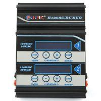 FFYY HTRC Battery Charger H120 Ac Dc Dual Ports Balance Charger Discharger For Lilon/Lipo/Life/Lihv/Nicd/Nimh/Pb Battery EU Plug