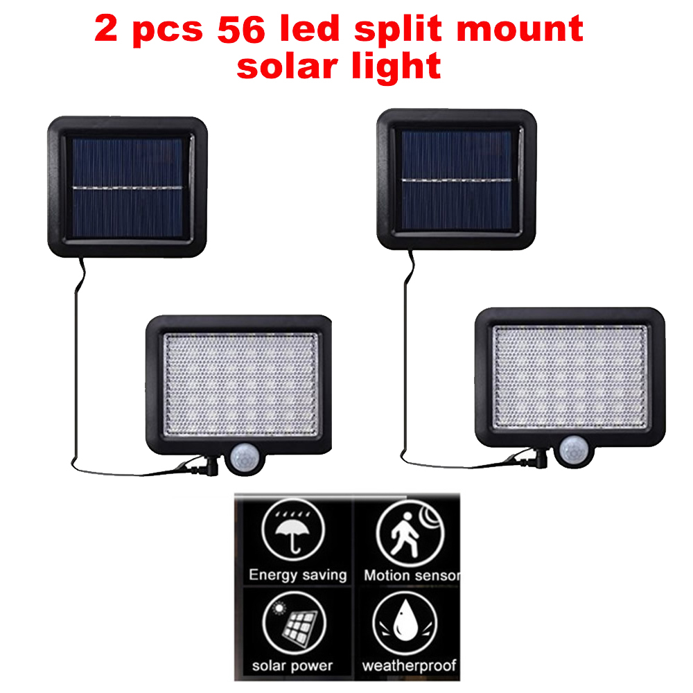2/4pcs 100/56/30 LEDs Outdoor Waterproof LED Solar Garden Light Lawn Lamp PIR Motion Sensor Energy Saving Security Garden Yard S
