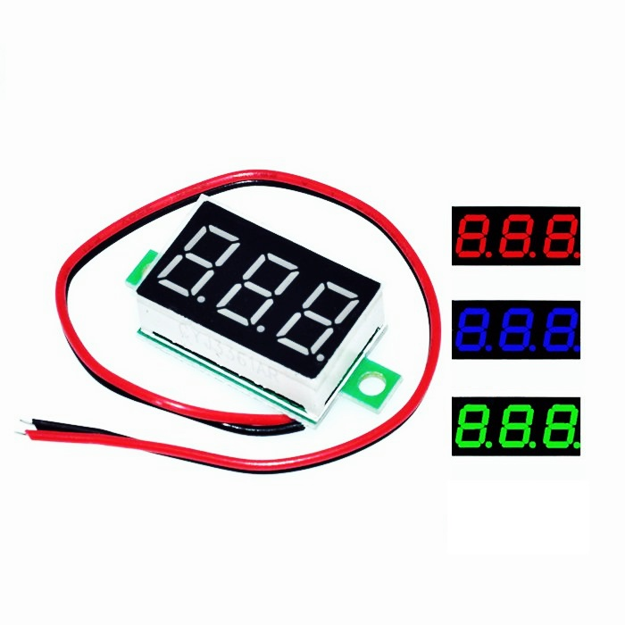 <font><b>0.36</b></font> inch <font><b>LED</b></font> display DC 0V-100V 2.7V-32V 7 Segment 3 Bit Digit Tube Red Green Blue Digital <font><b>led</b></font> 7segment for Voltmeter image