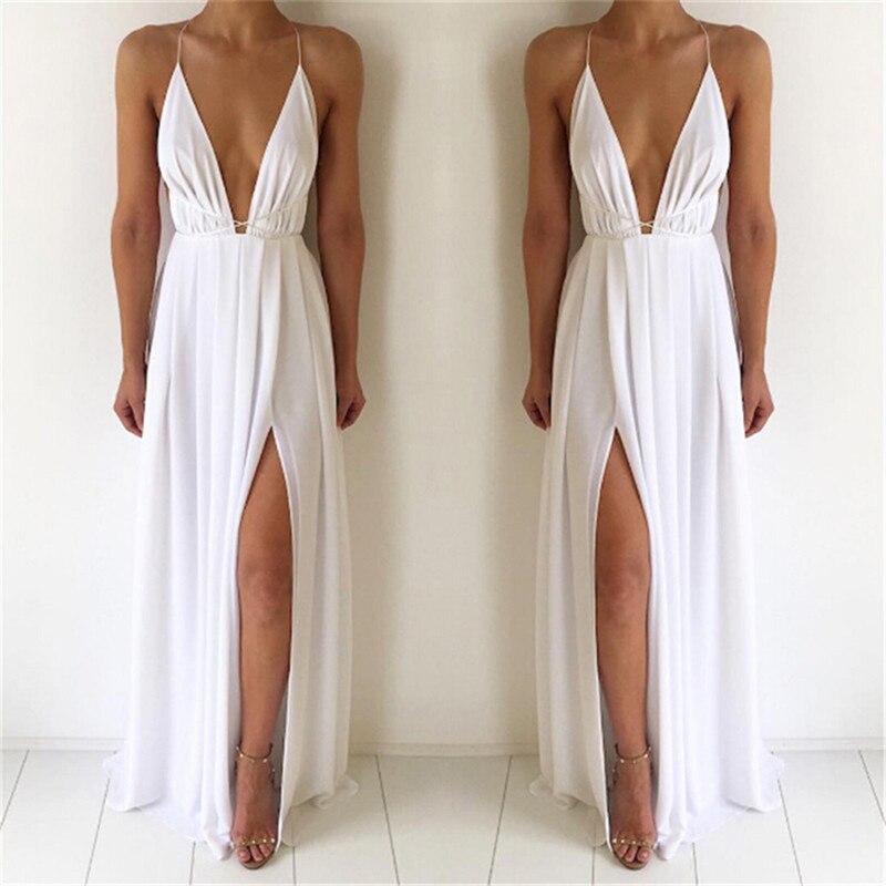 Сексуальное женское платье макси без рукавов с открытой спиной, длинное платье в стиле бохо для подружки невесты, официальное летнее