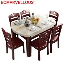 Mueble Room Juego Dinning Set Tisch Salle Manger модерн A Langer Eettafel Sala De Jantar Mesa обеденный стол