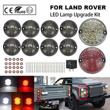10Pcs Position Seite Marker Hinten schwanz nebel lichter Komplette LED Lampe Upgrade Kit Für Land Rover Defender 90/110 defender