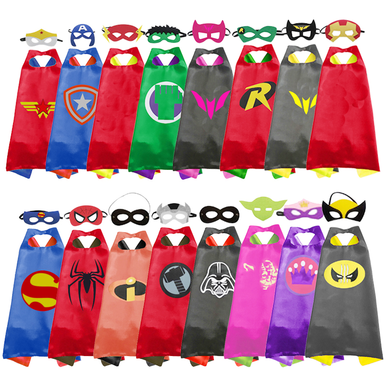 Halloween Costume Kids Cosplay Superhero Cape Mask Party Christmas Party Birthday Present
