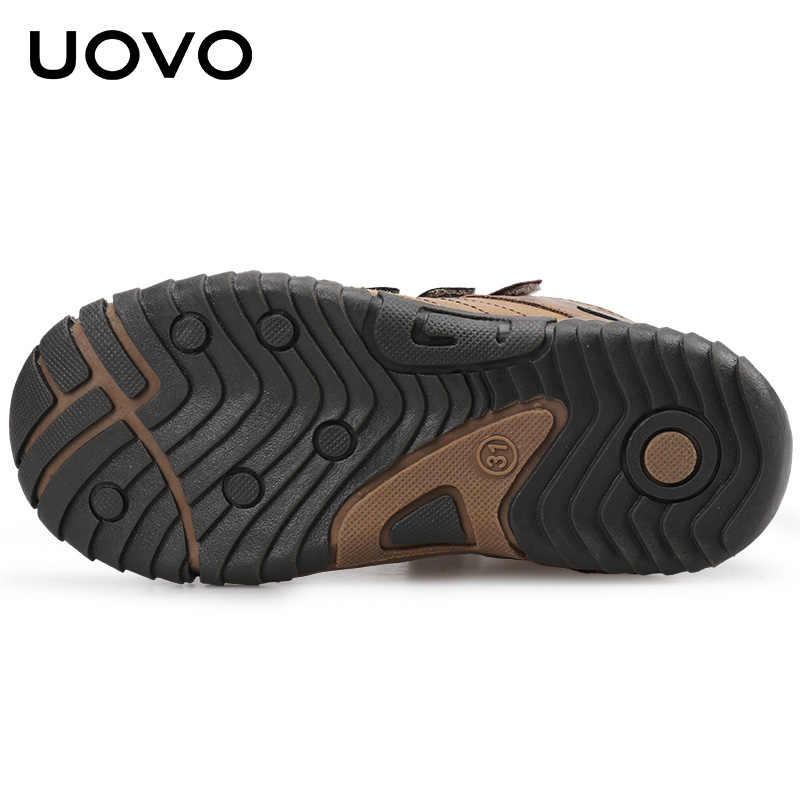 2020 UOVO ใหม่มาถึงกลางลูกวัวรองเท้าเด็กรองเท้าแฟชั่นเด็กกีฬารองเท้ากลางแจ้งเด็กรองเท้าผ้าใบลำลองสำหรับชายขนาด 26-36 #