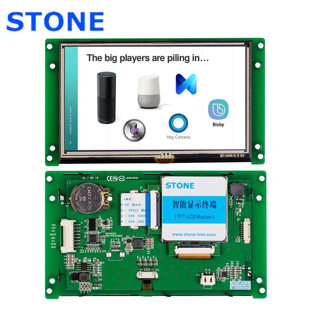 5.0 LCD 480x272 Display Module with Controller Board + Touch Screen for Equipment Touch Control image