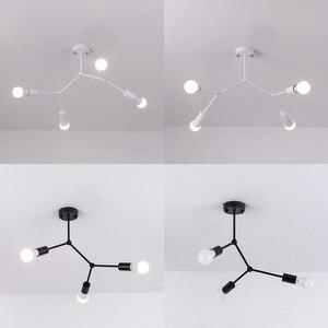 Image 5 - מודרני LED תקרת נברשת תאורת סלון חדר שינה מולקולרי נברשות מרובה ראשי Creative בית גופי תאורה