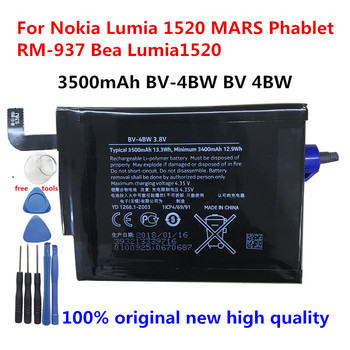 New Original 3500mAh BV-4BW BV 4BW Phone Battery Replacement For Nokia Lumia 1520 MARS Phablet RM-937 Bea Lumia1520 + Tools