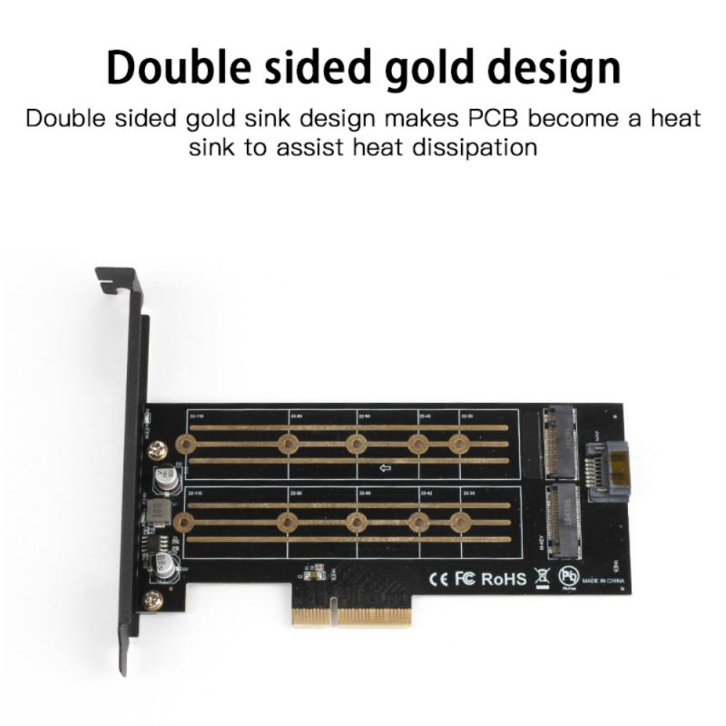 M.2 Ssd Adapter Card Ngff Naar Pcie 3.0 X4 Adapter Dual Interface Pci Express Card M Key/B Sleutel interface Nvme/Ngff Protocol 3
