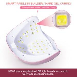 Image 4 - УФ лампа для сушки гель лака для ногтей, 45 светодиодов, 180 Вт