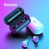 Baseus tws fone de ouvido bluetooth fone de ouvido 3d estéreo sem fio esporte bluetooth fone com microfone hd para telefone fone de ouvido