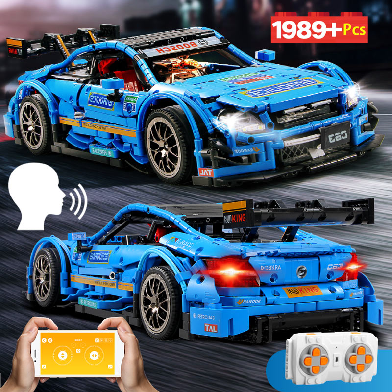 1989Pcs C63 AMG Benz RC Super Racing Car Building Blocks Legoing Technic With APP LEDMOC-6687 Vehicle Bricks Toys For Children