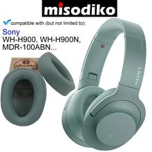 Misodiko 交換耳パッドクッションキット ソニー h。耳に MDR 100ABN WH H900N WH H900 、ヘッドフォン修理部品イヤーパッドカバー