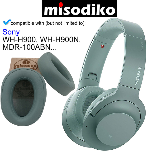 Misodiko kit de almofadas para substituição da orelha, para sony h.ear on MDR 100ABN WH H900N WH H900, peças de reparo de fones de ouvido capa