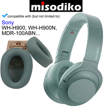 Misodiko reemplazo almohadillas para los oídos cojines Kit para SONY h. Ear on WH H900N MDR 100ABN, auriculares reparación piezas Earpads Cover