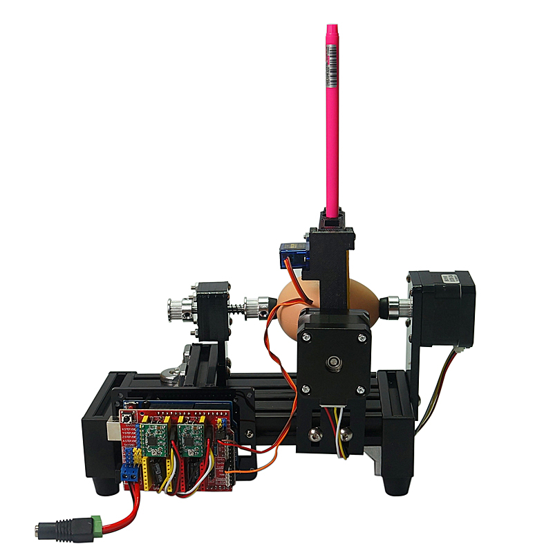 Demontiert LY normale größe eggdraw eggbot Ei-zeichnung roboter ziehen maschine Kugeln zeichnung maschine zeichnung auf ei und ball