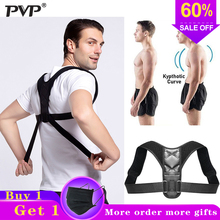 PVP Brace Support Belt Adjustable Back Posture Corrector Clavicle Spine Shoulder Lumbar Correction