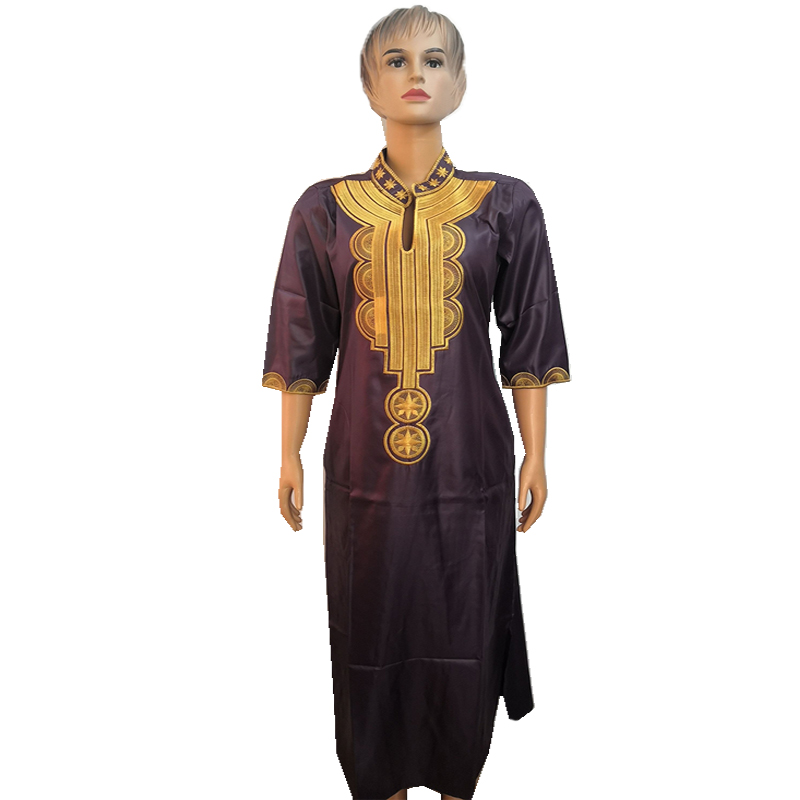 MD South African Traditional Wear Dashiki Maxi Dresses For Women Plus Size Clothes Gold Embroidery Lady Dress Wedding Party