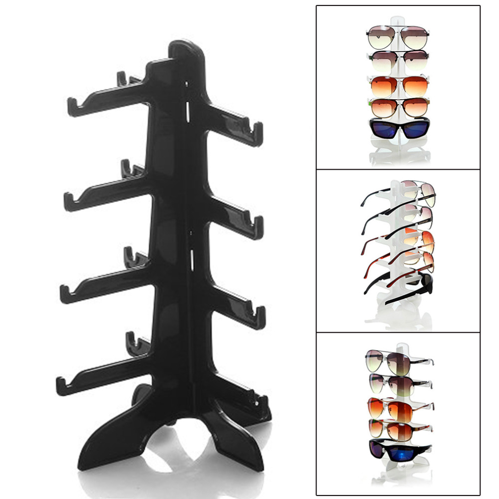 4 Layer Plastic Frame Display Stands 3 Colors Fashion Sun Glasses Eyeglasses Plastic Eyewear Counter Showing Stand Holder Rack