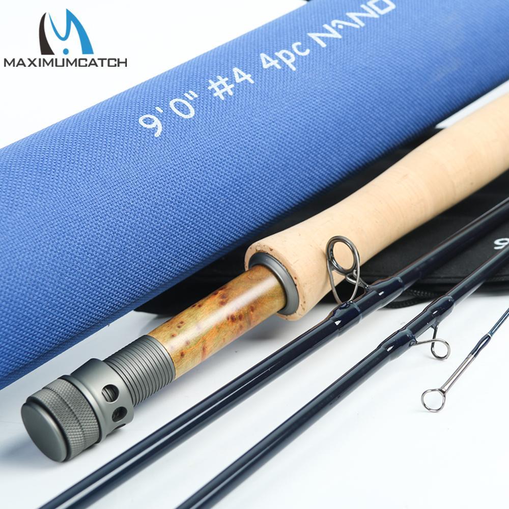 Aventik Fly Fishing Rod IM12 Nano Carbone 2 en 1 Rod Avec Extra Extension section