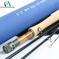 Maximumcatch nano voar vara de pesca im12 40 t + 46 t toray carbono ação rápida super leve com tubo cordura 3/4/5/6/7/8wt 8444/ 9'
