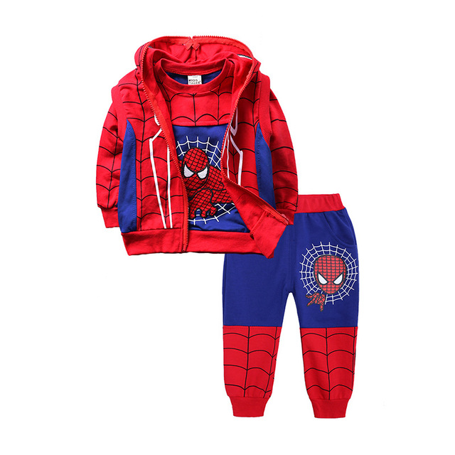 Children Batman Spiderman Costume Clothing Set 4