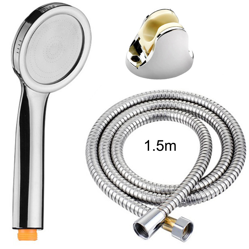 Pressurized Shower Heads Set Handheld Flexible Showerhead Removable Bathroom Accessories Shower Head Set Water Saving