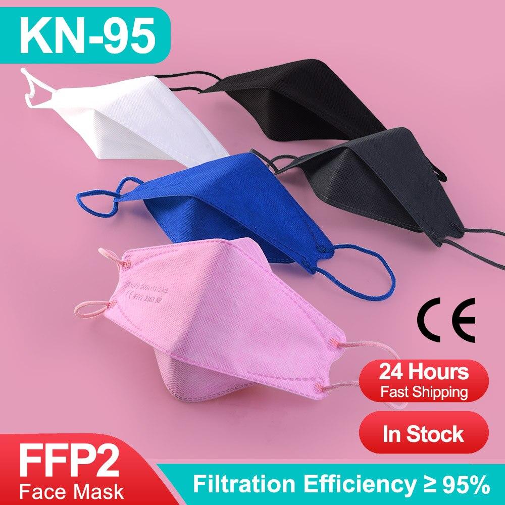 FFP2Mask CE Fish KN95, 4 слоя маски FPP2 серая черная маска для взрослых FFP2 Mascarillas FPP3 Mascherine FPP2